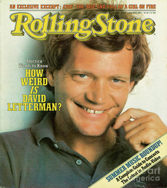 Wall Art - Photograph - Rolling Stone Cover - Volume #371 - 6/10/1982 - David Letterman by Herb Ritts