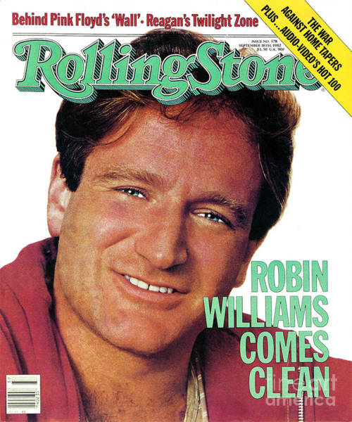 William Photograph - Rolling Stone Cover - Volume #378 - 9/16/1982 - Robin Williams by Bonnie Schiffman