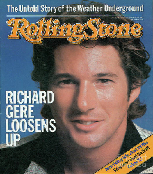 Wall Art - Photograph - Rolling Stone Cover - Volume #379 - 9/30/1982 - Richard Gere by Herb Ritts
