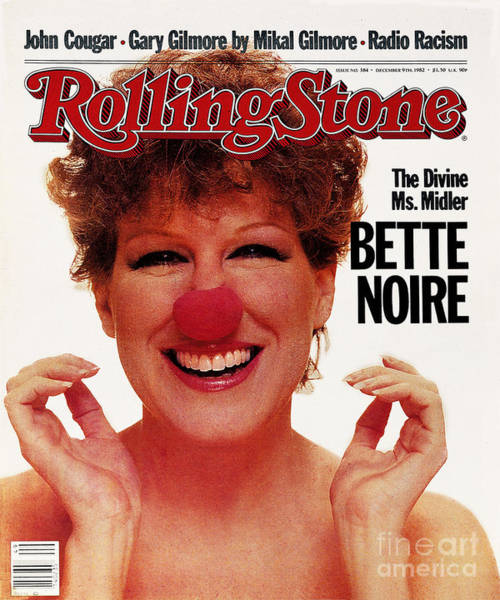 Wall Art - Photograph - Rolling Stone Cover - Volume #384 - 12/8/1982 - Bette Midler by Greg Gorman