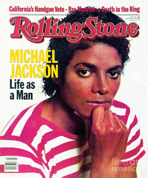 Wall Art - Photograph - Rolling Stone Cover - Volume #389 - 2/17/1983 - Michael Jackson by Bonnie Schiffman