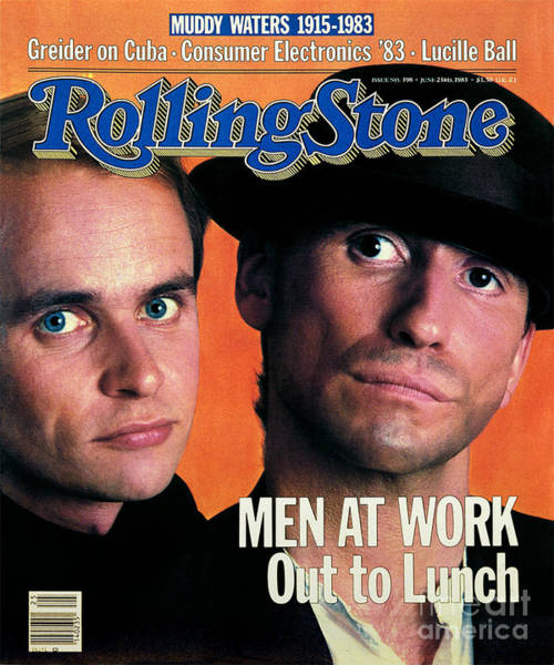 Wall Art - Photograph - Rolling Stone Cover - Volume #398 - 6/24/1983 - Men At Work by Aaron Rapoport