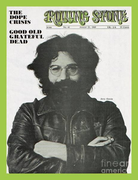 Roll Photograph - Rolling Stone Cover - Volume #40 - 8/23/1969 - Jerry Garcia by Baron Wolman