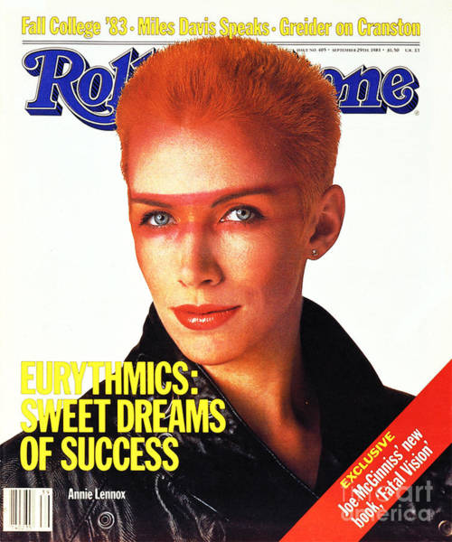 Wall Art - Photograph - Rolling Stone Cover - Volume #405 - 9/29/1983 - Annie Lennox by E.J. Camp