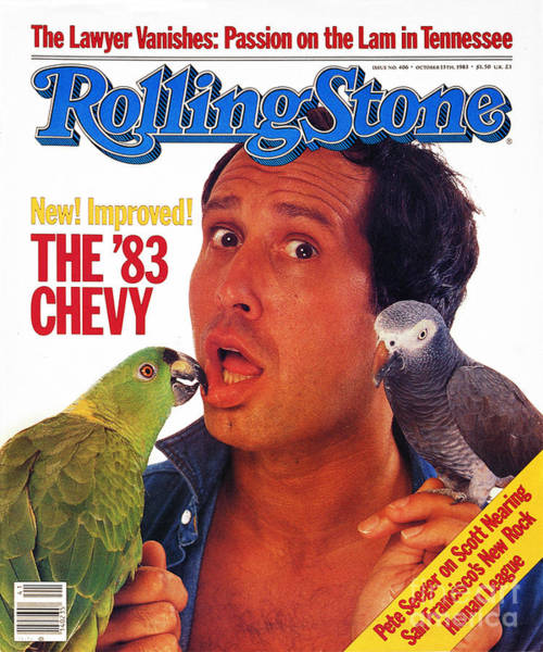 Chase Photograph - Rolling Stone Cover - Volume #406 - 10/13/1983 - Chevy Chase by Bonnie Schiffman