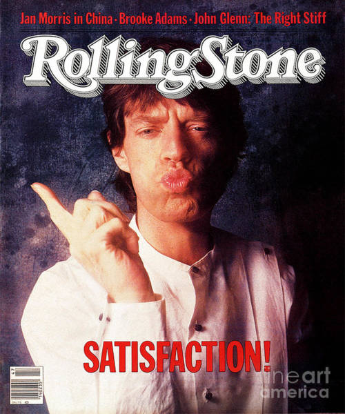 Wall Art - Photograph - Rolling Stone Cover - Volume #409 - 11/24/1983 - Mick Jagger by William Coupon