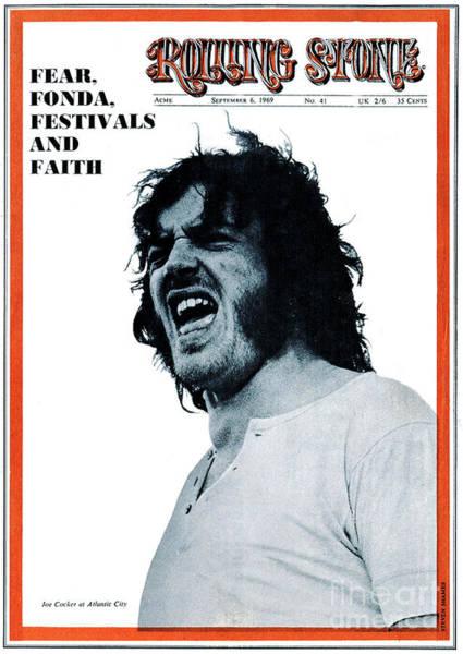 Steven Photograph - Rolling Stone Cover - Volume #41 - 9/6/1969 - Joe Cocker by Steven Shames