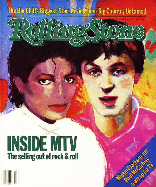 Michael Photograph - Rolling Stone Cover - Volume #410 - 12/8/1983 - Michael Jackson And Paul Mccartney by Vivienne Fleisher
