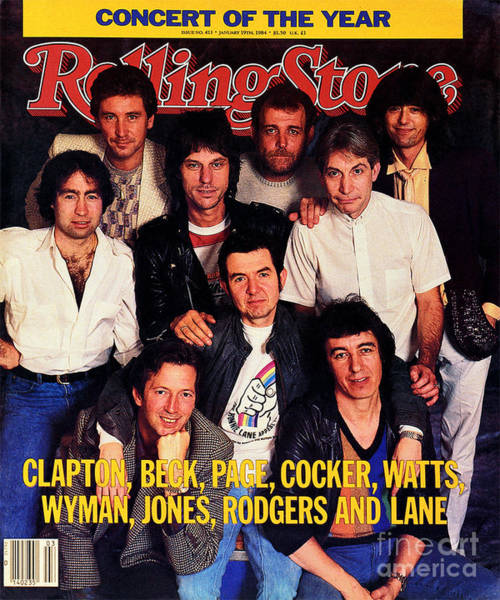 Concert Photograph - Rolling Stone Cover - Volume #413 - 1/19/1984 - Arms Concert by Bonnie Schiffman
