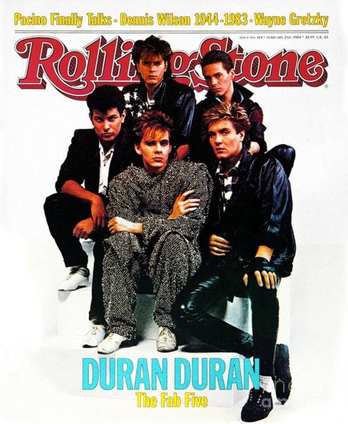 Wall Art - Photograph - Rolling Stone Cover - Volume #414 - 2/2/1984 - Duran Duran by David Montgomery