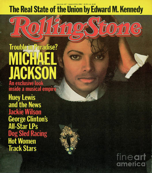 Wall Art - Photograph - Rolling Stone Cover - Volume #417 - 3/15/1984 - Michael Jackson by Matthew Rolston