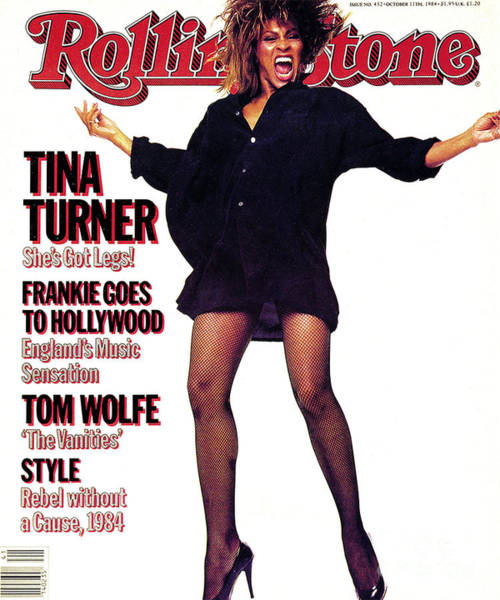 Wall Art - Photograph - Rolling Stone Cover - Volume #432 - 10/11/1984 - Tina Turner by Steve Meisel