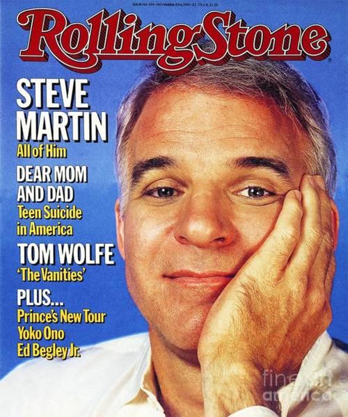 Rolling Stone Cover - Volume #434 - 11/8/1984 - Steve Martin Art Print