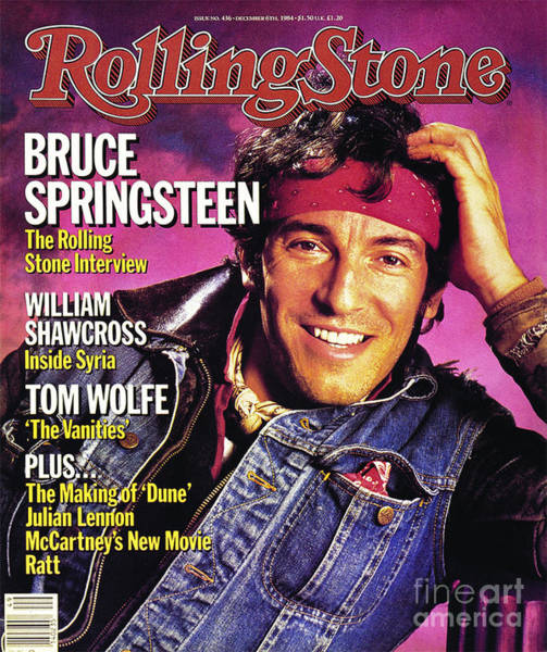 Wall Art - Photograph - Rolling Stone Cover - Volume #436 - 12/6/1984 - Bruce Springsteen by Aaron Rapoport