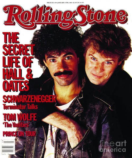John Photograph - Rolling Stone Cover - Volume #439 - 1/17/1985 - Darryl Hall And John Oates by Bert Stern