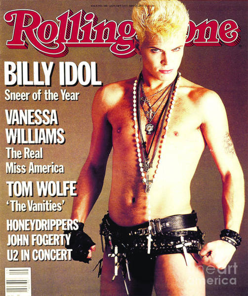 Idols Wall Art - Photograph - Rolling Stone Cover - Volume #440 - 1/31/1985 - Billy Idol by E.J. Camp