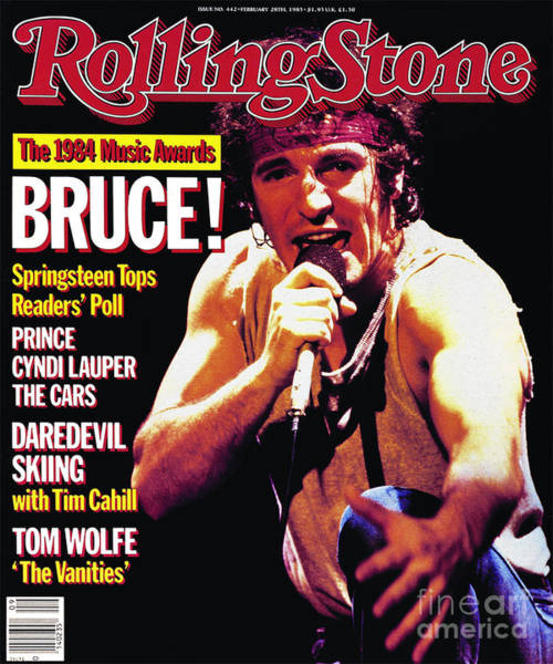 Wall Art - Photograph - Rolling Stone Cover - Volume #442 - 2/28/1985 - Bruce Springsteen by Neal Preston