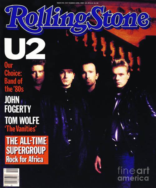 Wall Art - Photograph - Rolling Stone Cover - Volume #443 - 3/15/1985 - U2 by Rebecca Blake