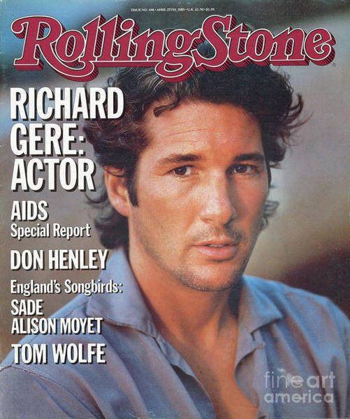Wall Art - Photograph - Rolling Stone Cover - Volume #446 - 4/25/1985 - Richard Gere by Herb Ritts