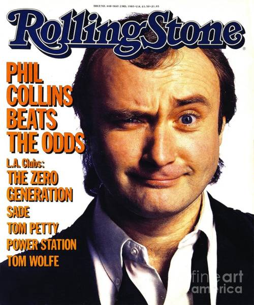 Collins Photograph - Rolling Stone Cover - Volume #448 - 5/23/1985 - Phil Collins  by Aaron Rapoport