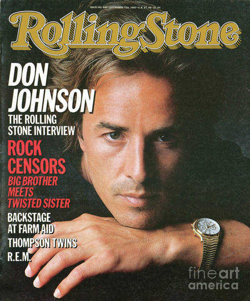 Wall Art - Photograph - Rolling Stone Cover - Volume #460 - 11/7/1985 - Don Johnson by Herb Ritts