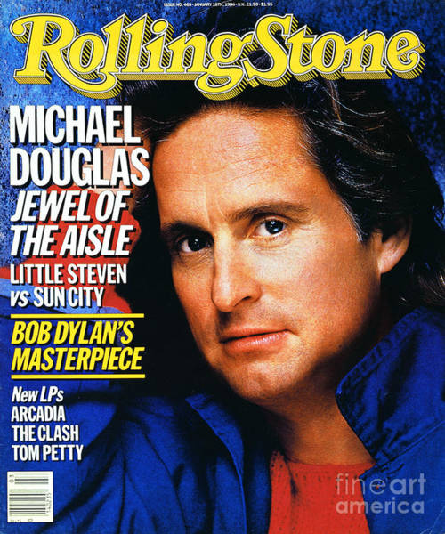 Wall Art - Photograph - Rolling Stone Cover - Volume #465 - 1/16/1986 - Michael Douglas by E.J. Camp