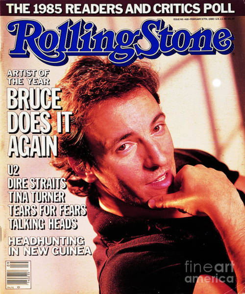 Wall Art - Photograph - Rolling Stone Cover - Volume #468 - 2/27/1986 - Bruce Springsteen by Aaron Rapoport