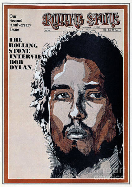Wall Art - Photograph - Rolling Stone Cover - Volume #47 - 11/29/1969 - Bob Dylan by Unknown
