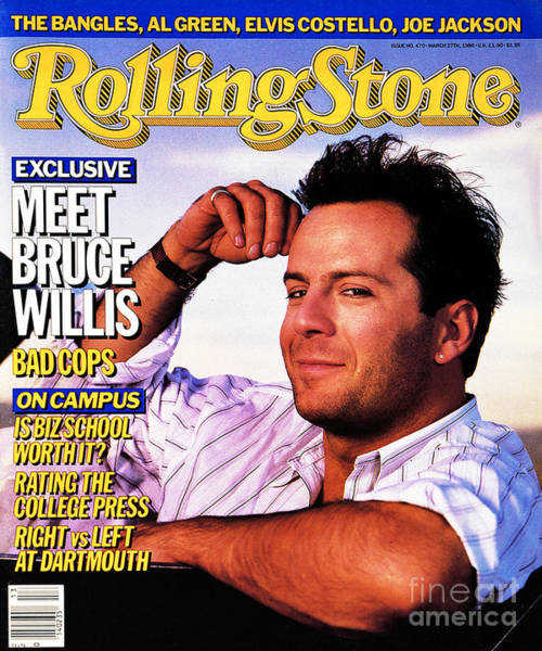 Wall Art - Photograph - Rolling Stone Cover - Volume #470 - 3/27/1986 - Bruce Willis by Bonnie Schiffman