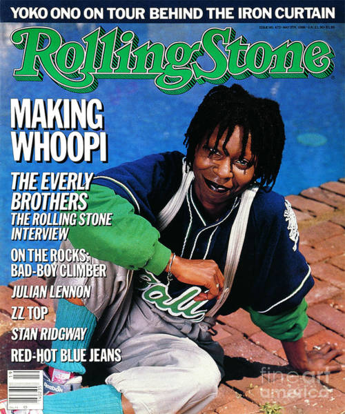 Wall Art - Photograph - Rolling Stone Cover - Volume #473 - 5/8/1986 - Whoopi Goldberg by Bonnie Schiffman