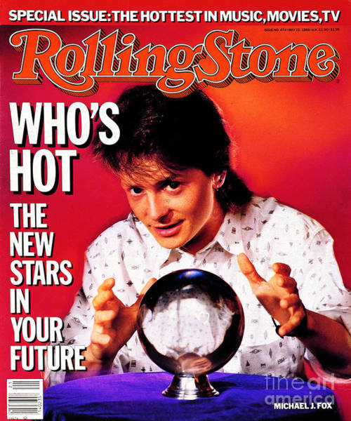Michael Photograph - Rolling Stone Cover - Volume #474 - 5/22/1986 - Michael J. Fox by Chris Callis
