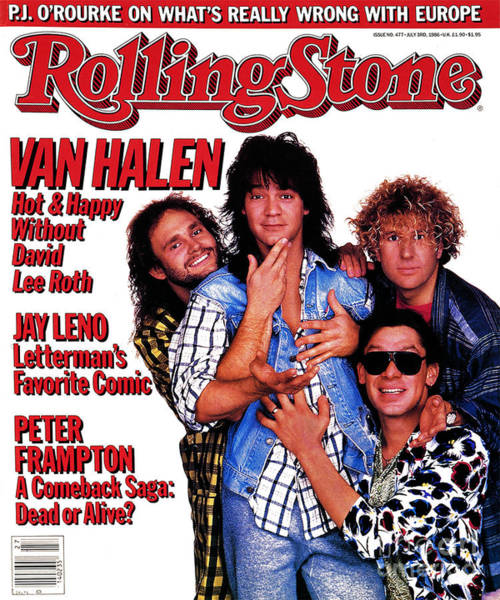 Wall Art - Photograph - Rolling Stone Cover - Volume #477 - 7/3/1986 - Van Halen by Deborah Feingold