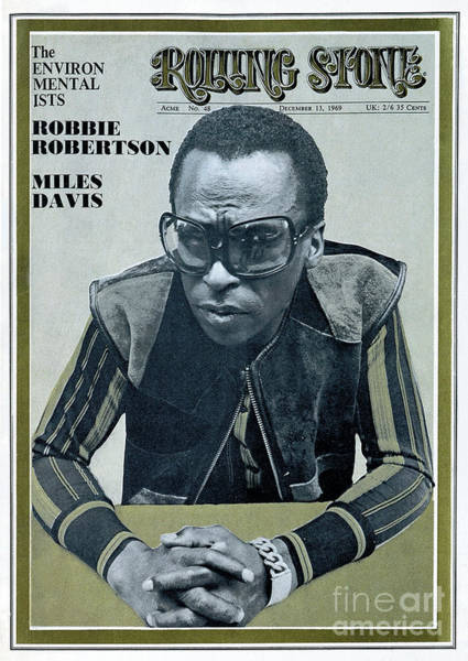 Wall Art - Photograph - Rolling Stone Cover - Volume #48 - 12/13/1969 - Miles Davis by Unknown