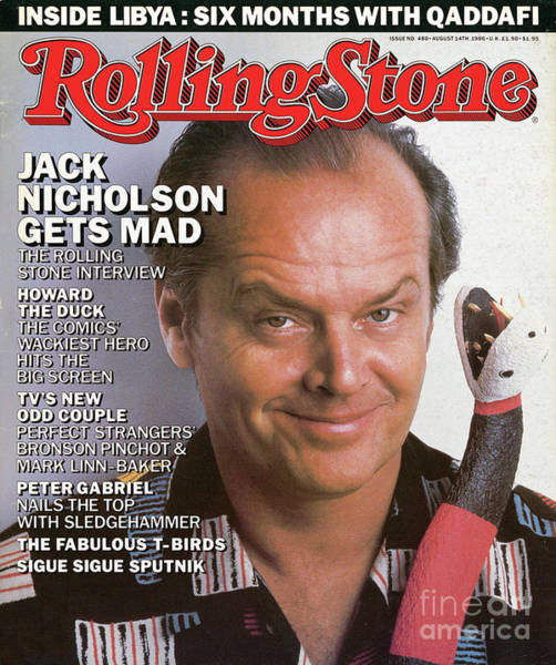 Wall Art - Photograph - Rolling Stone Cover - Volume #480 - 8/14/1986 - Jack Nicholson by Herb Ritts