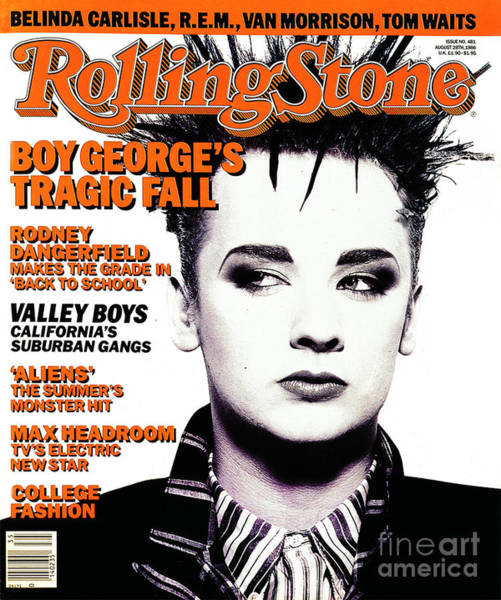 Wall Art - Photograph - Rolling Stone Cover - Volume #481 - 8/28/1986 - Boy George by Norman Watson