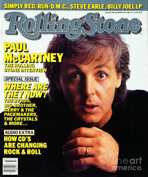 Wall Art - Photograph - Rolling Stone Cover - Volume #482 - 9/11/1986 - Paul Mccartney by Harry DeZitter