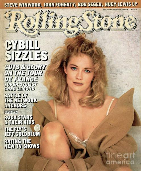 Shepherds Photograph - Rolling Stone Cover - Volume #484 - 10/9/1986 - Cybill Shepherd by Matthew Rolston