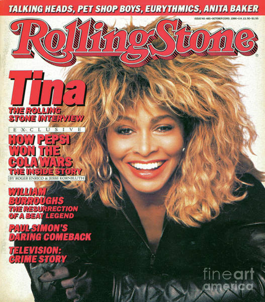 Wall Art - Photograph - Rolling Stone Cover - Volume #485 - 10/23/1986 - Tina Turner by Matthew Rolston