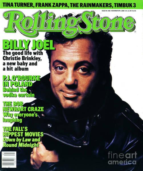 Wall Art - Photograph - Rolling Stone Cover - Volume #486 - 11/6/1986 - Billy Joel by Albert Watson