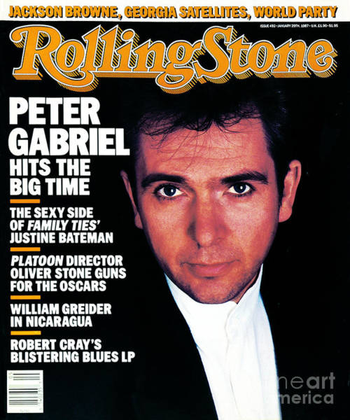 Wall Art - Photograph - Rolling Stone Cover - Volume #492 - 1/29/1987 - Peter Gabriel by Robert Mapplethorpe
