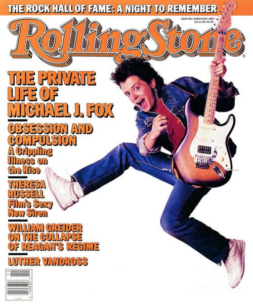 J Wall Art - Photograph - Rolling Stone Cover - Volume #495 - 3/12/1987 - Michael J. Fox by Deborah Feingold