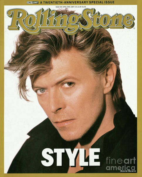 Wall Art - Photograph - Rolling Stone Cover - Volume #498 - 4/23/1987 - David Bowie by Herb Ritts