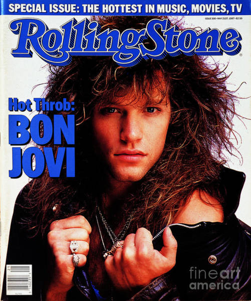 Wall Art - Photograph - Rolling Stone Cover - Volume #500 - 5/21/1987 - Jon Bon Jovi by E.J. Camp