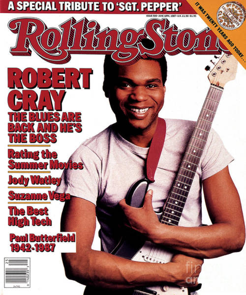 Wall Art - Photograph - Rolling Stone Cover - Volume #502 - 6/18/1987 - Robert Cray by Deborah Feingold
