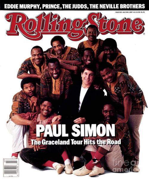 Simon Wall Art - Photograph - Rolling Stone Cover - Volume #503 - 7/2/1987 - Paul Simon And Ladysmith Black Mambazo by Mark Seliger