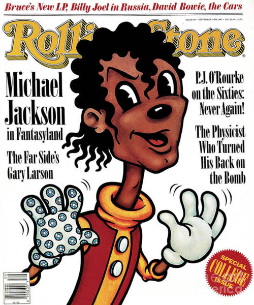Michael Photograph - Rolling Stone Cover - Volume #509 - 9/24/1987 - Michael Jackson by Anita Kunz