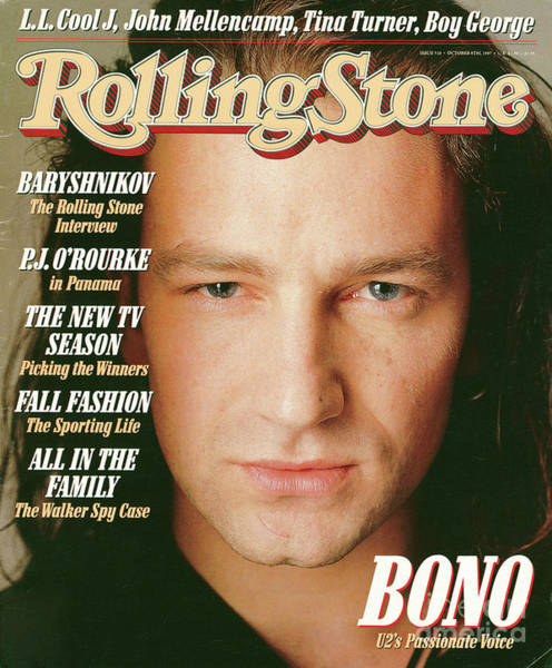 Wall Art - Photograph - Rolling Stone Cover - Volume #510 - 10/8/1987 - Bono by Matthew Rolston