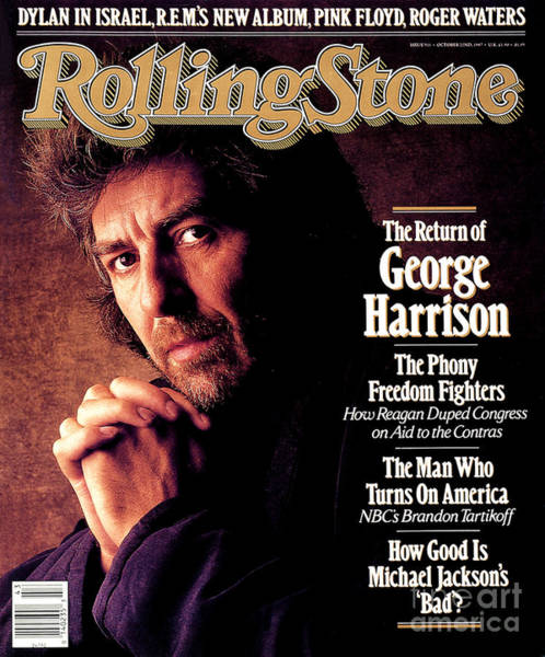 Wall Art - Photograph - Rolling Stone Cover - Volume #511 - 10/22/1987 - George Harrison by William Coupon