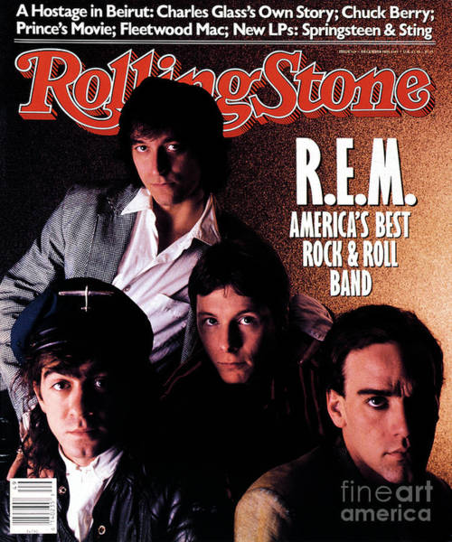 Wall Art - Photograph - Rolling Stone Cover - Volume #514 - 12/3/1987 - Rem by Brian Smale