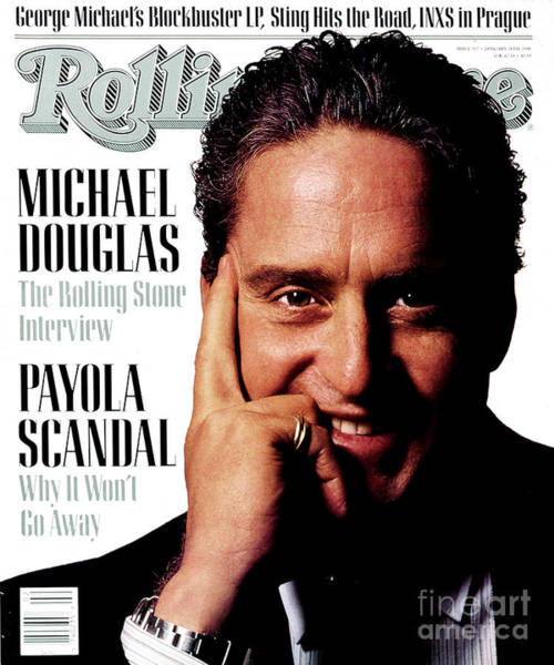 Wall Art - Photograph - Rolling Stone Cover - Volume #517 - 1/14/1988 - Michael Douglas by Albert Watson
